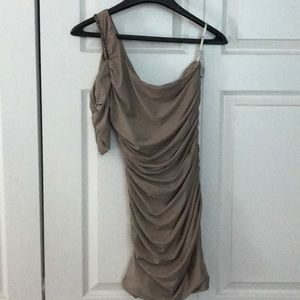 Tan bodycon forever 21 dress